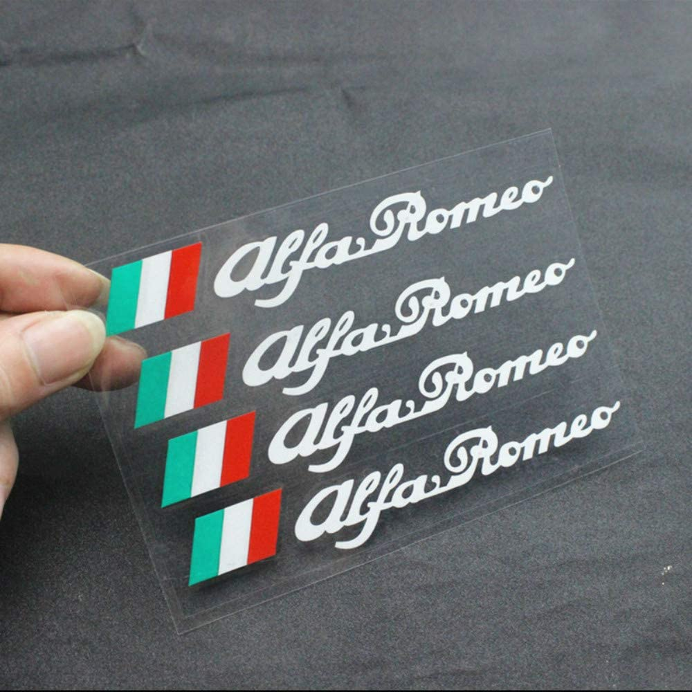 Black Auto R/ückspiegel Aufkleber DIY Dekoration,f/ür Alfa Romeo Giulietta Giulia Stelvio 159 147 156 166 GT MiTo Auto Styling