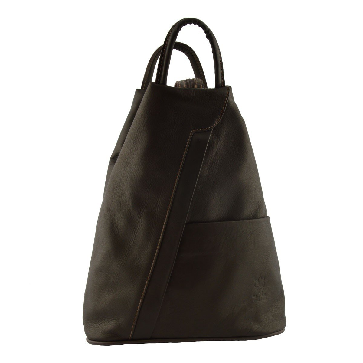 Made In Italy Woman Leather Backpack Color Dark Brown - Backpack   B014T6IUHK
