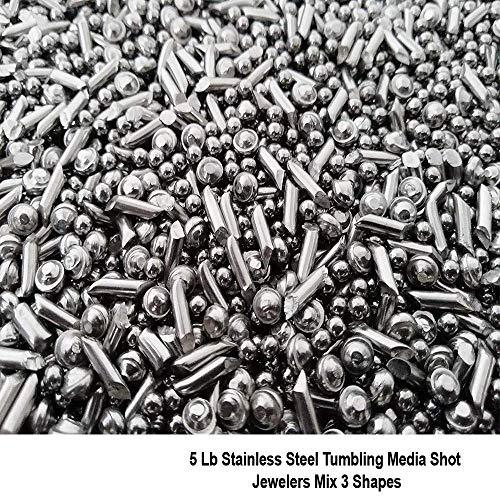 - Stainless Steel Tumbling Media Shot Jewelers Tumbler Mix Shapes 3 Types 5lb
