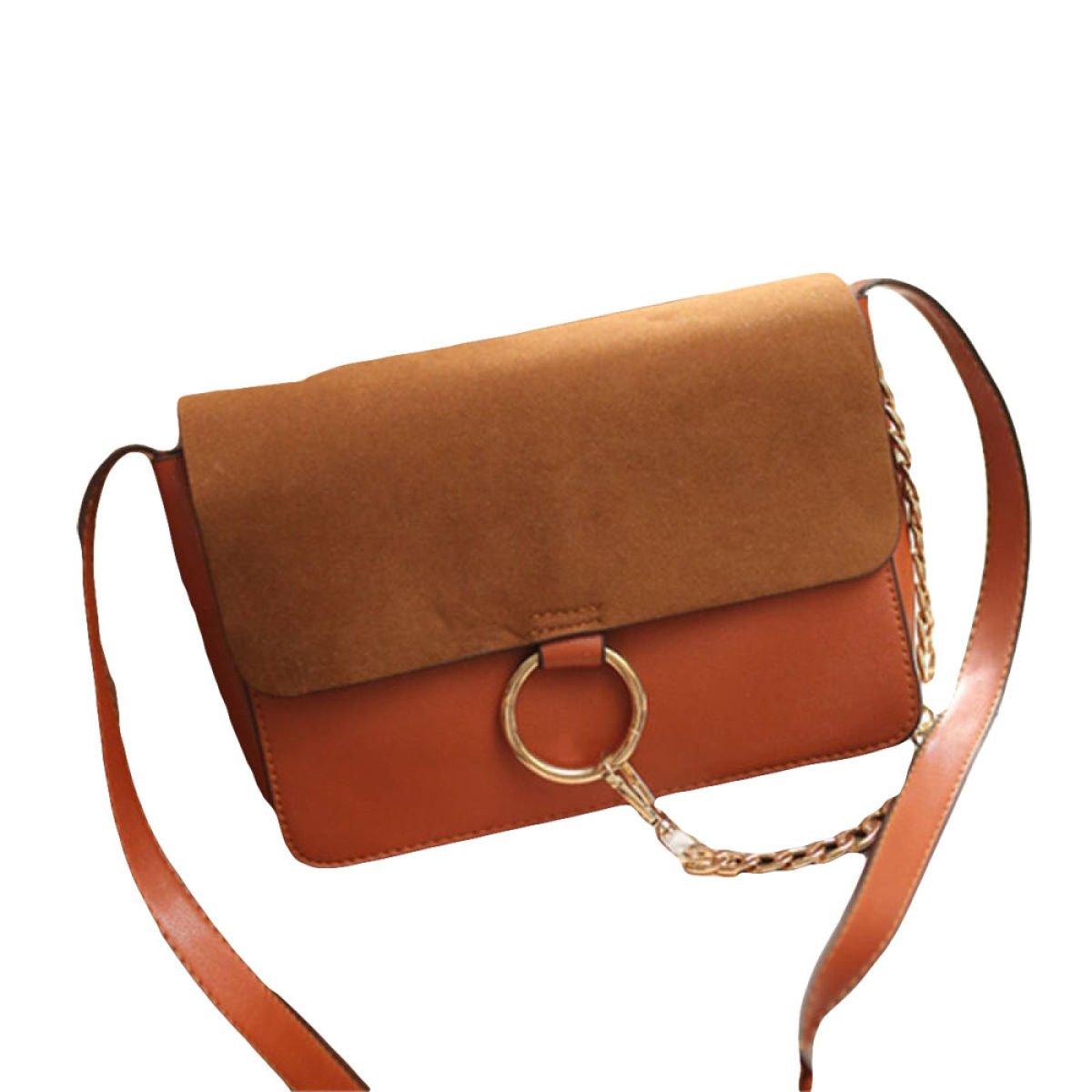 Handtaschen Arbeiten Kettenring Kleines Quadratisches Paket Diagonal Umhängetasche,Grey-OneSize GKKXUE