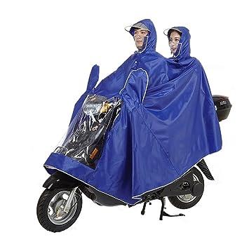 Raincoat XIA Impermeable Traje De Doble Gente Impermeable Coche Eléctrico Motocicleta Poncho Máscara Transparente Capa (