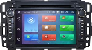 Android 9.0 Car Stereo DVD Player for GMC Chevy Silverado 1500 Sierra 7 inch Octa Core Double Din in Dash Touchscreen FM/AM Radio Receiver Navigation Bluetooth
