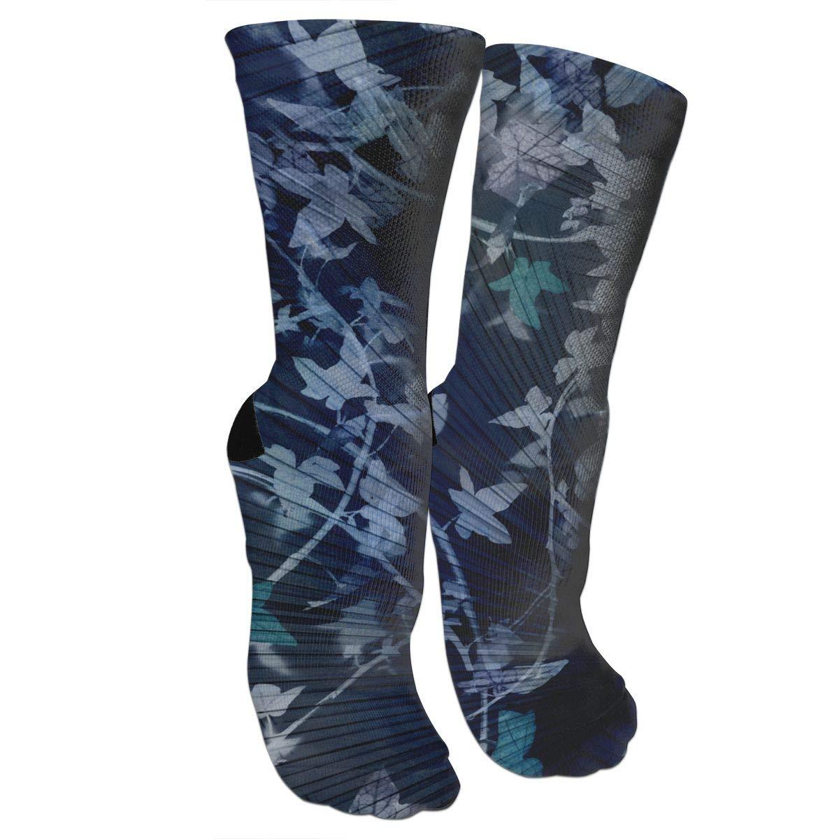 Leaf Illustrations Casual Socks Crew Socks Crazy Socks Soft Breathable For Sports Athletic Running
