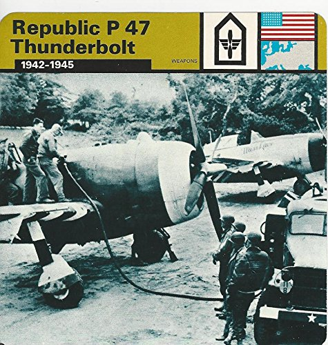1977 Edito Service  World War Ii   61 03 Republic P47 Thunderbolt Airplane