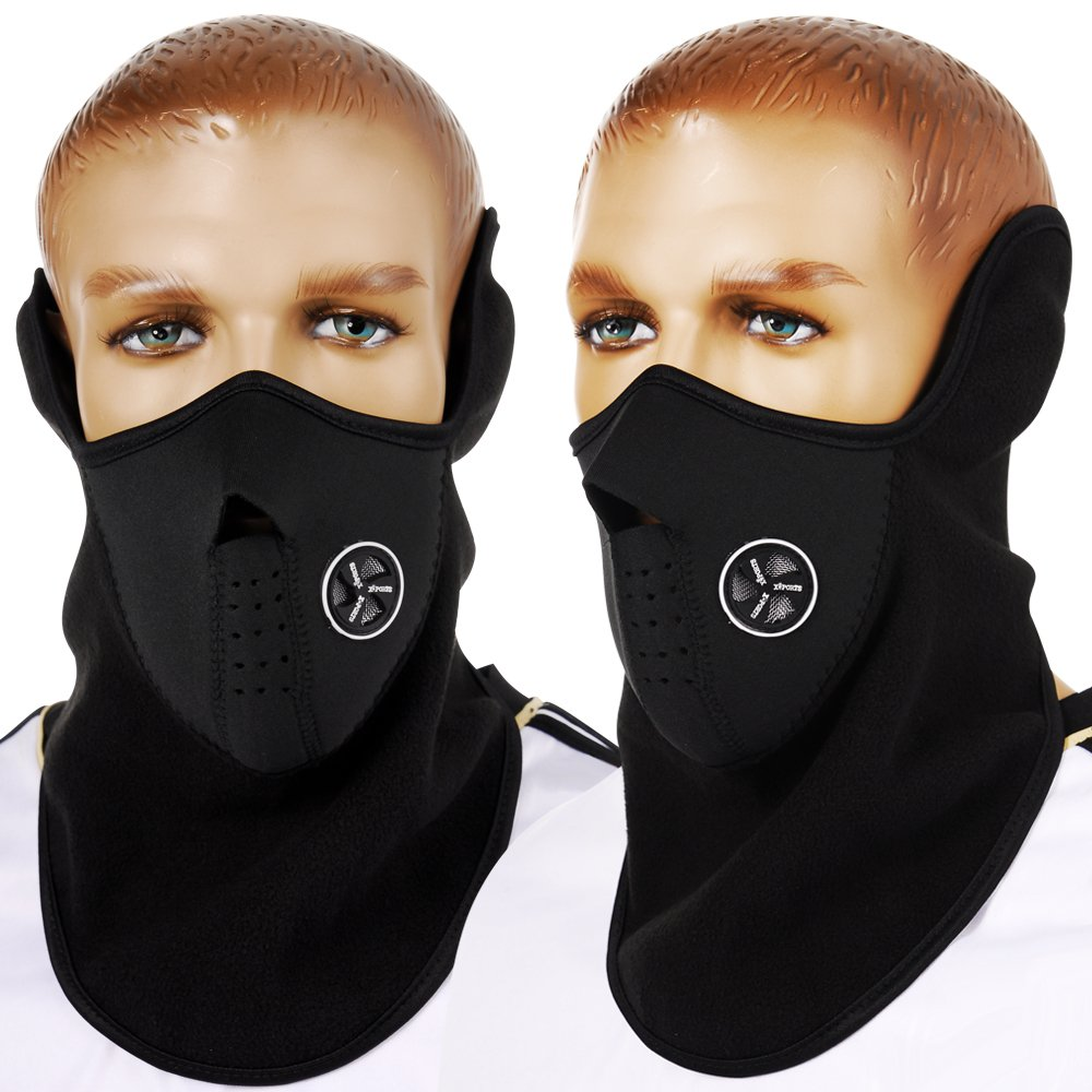 Motorcycle gloves europe - Akord Motorcycle Motorbike Thermal Balaclava Half Mask Black Size One Size