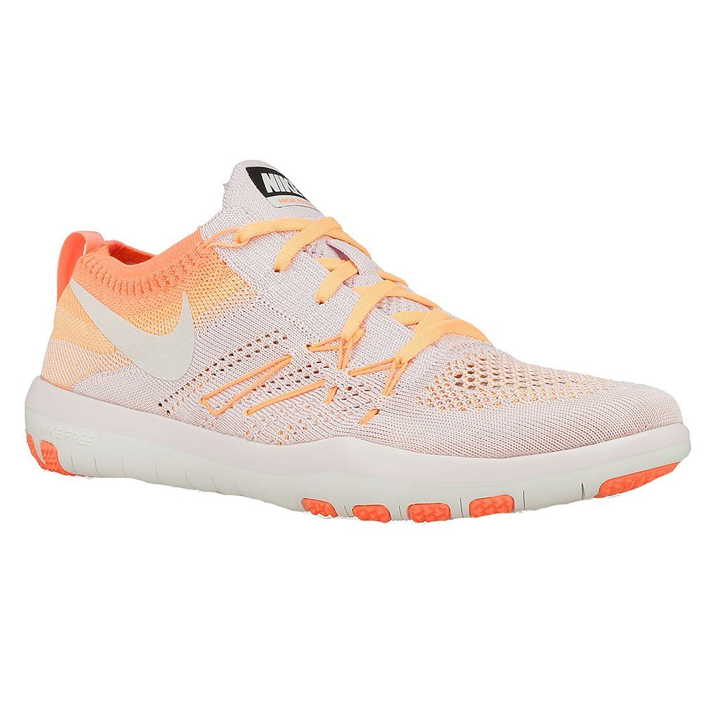 NIKE Womens Free Focus Flyknit Mesh Breathable Trainers B01M16IA6Q 7 M US|Orange-white