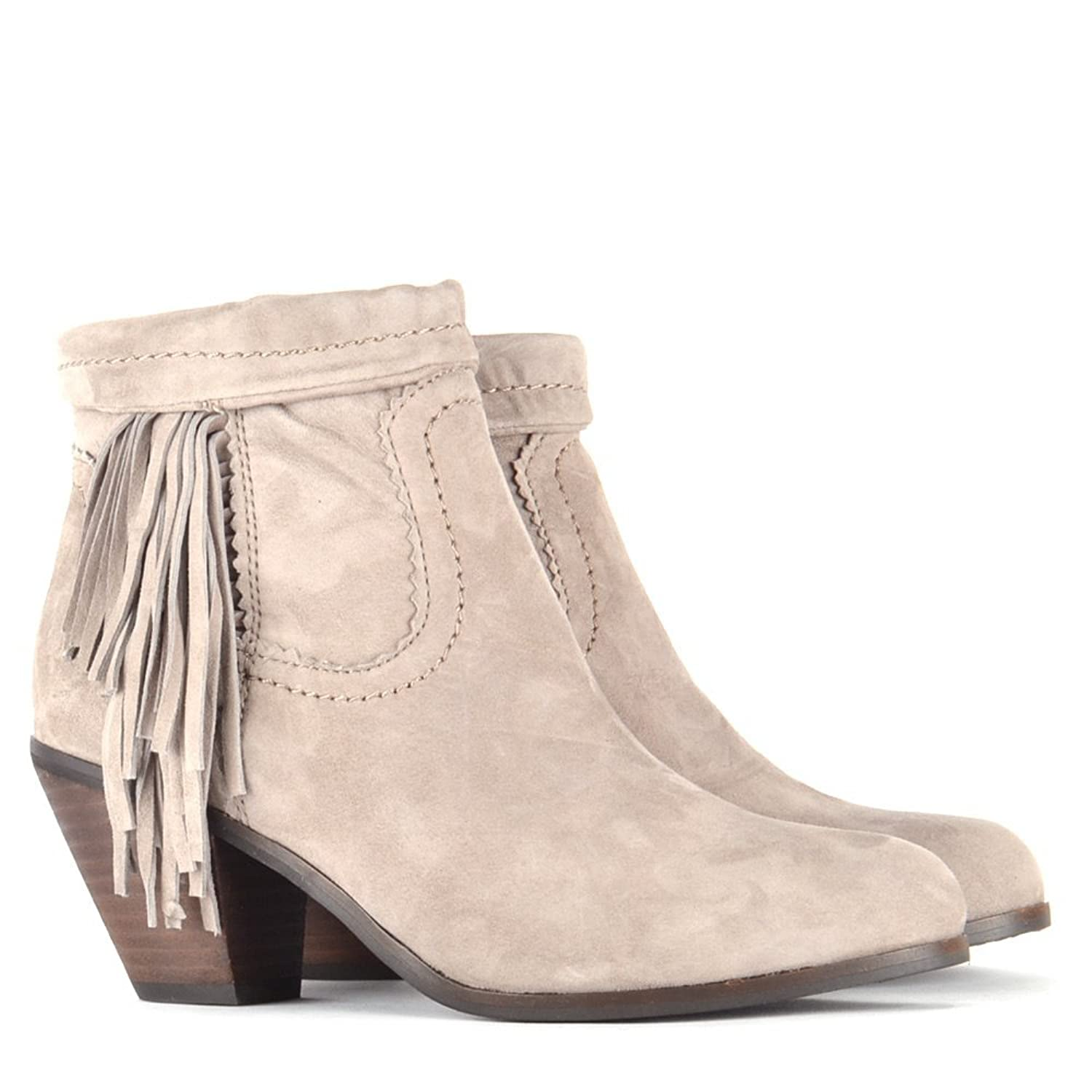 599840a6853e3 Sam Edelman Louie Tan Putty kid suede ankle boots Tan 40.5  Amazon.co.uk   Shoes   Bags