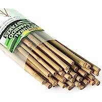 Pllieay 25 estacas de bambú para jardín para interiores y exteriores, soporte para plantas de jardinería, 2 pies