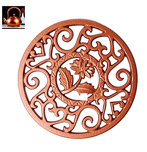Best Deals! Cast Iron Trivet - CHANMOL Decorative Trivet Mat - Heavy Duty Hot Pot Holder Pads, Non-s...