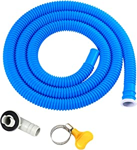 Daisypower Air Conditioner Drain Hose Connector Elbow Fitting,with 5.2ft AC Drain Hose Kit