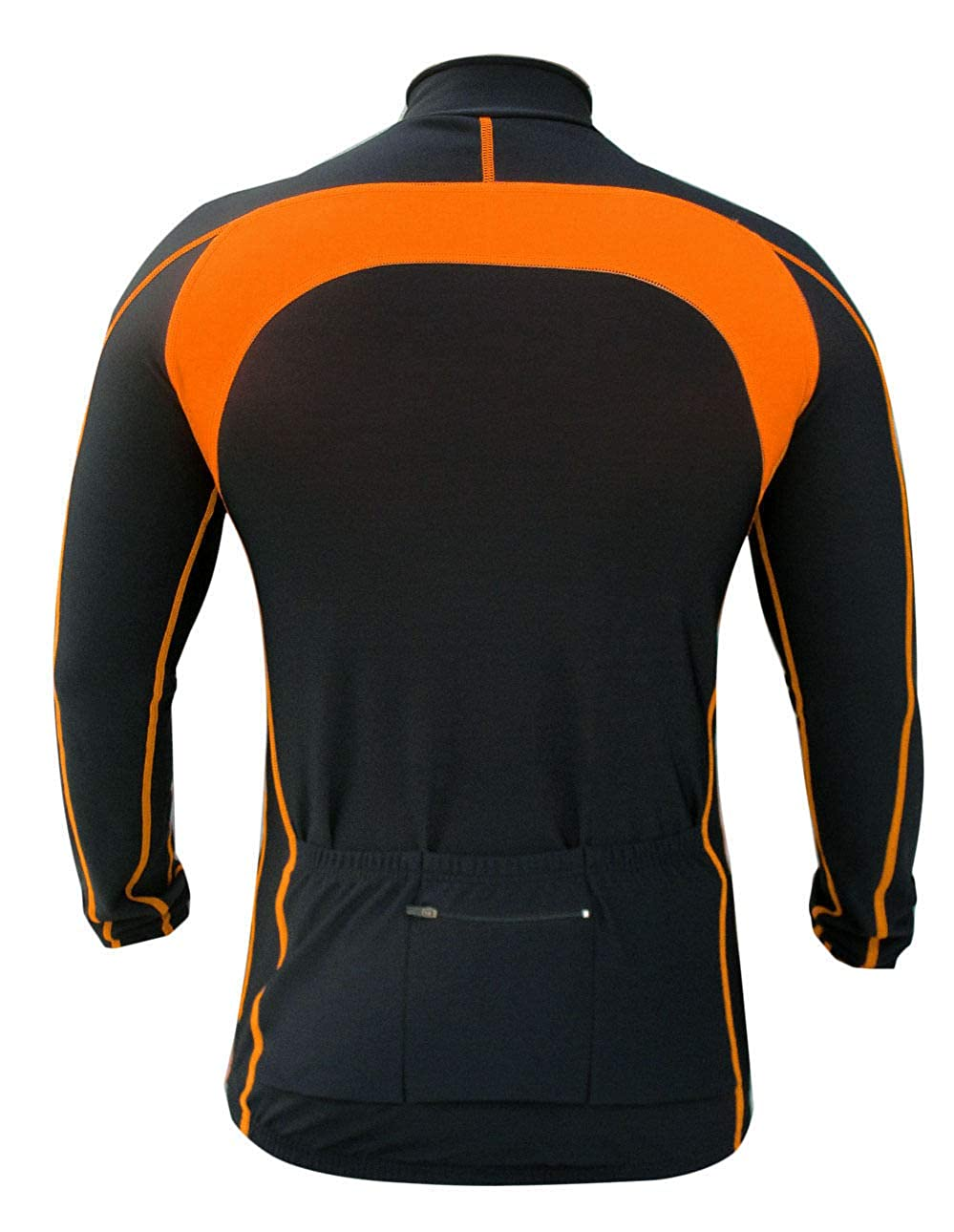 Winter Cycling Thermal Super Roubaix Fleece Jersey//Jacket Black//Orange 555