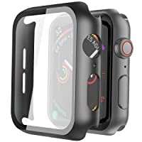 Misxi Black Hard Case Compatible with Apple Watch Series 5 Series 4 44mm with Screen...