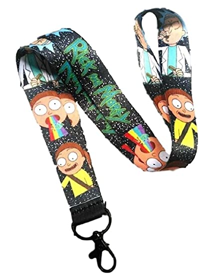 Rick and Morty AOP CHARACTER LANYARD KEYCHAIN ID HOLDER