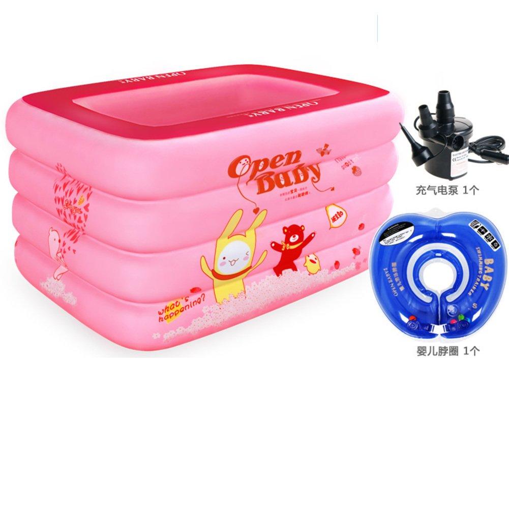 Aufblasbare gepolstert isolierte Baby Schwimmbad/Baby Planschbecken für Kinder/Extra große quadratische Swimming Pool/Familie-Baby-Pool-F