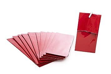 50 unidades pequeñas bolsas de papel con base de suelo + de ...