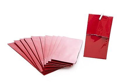 10 unidades pequeñas bolsas de papel con base de suelo + de ...
