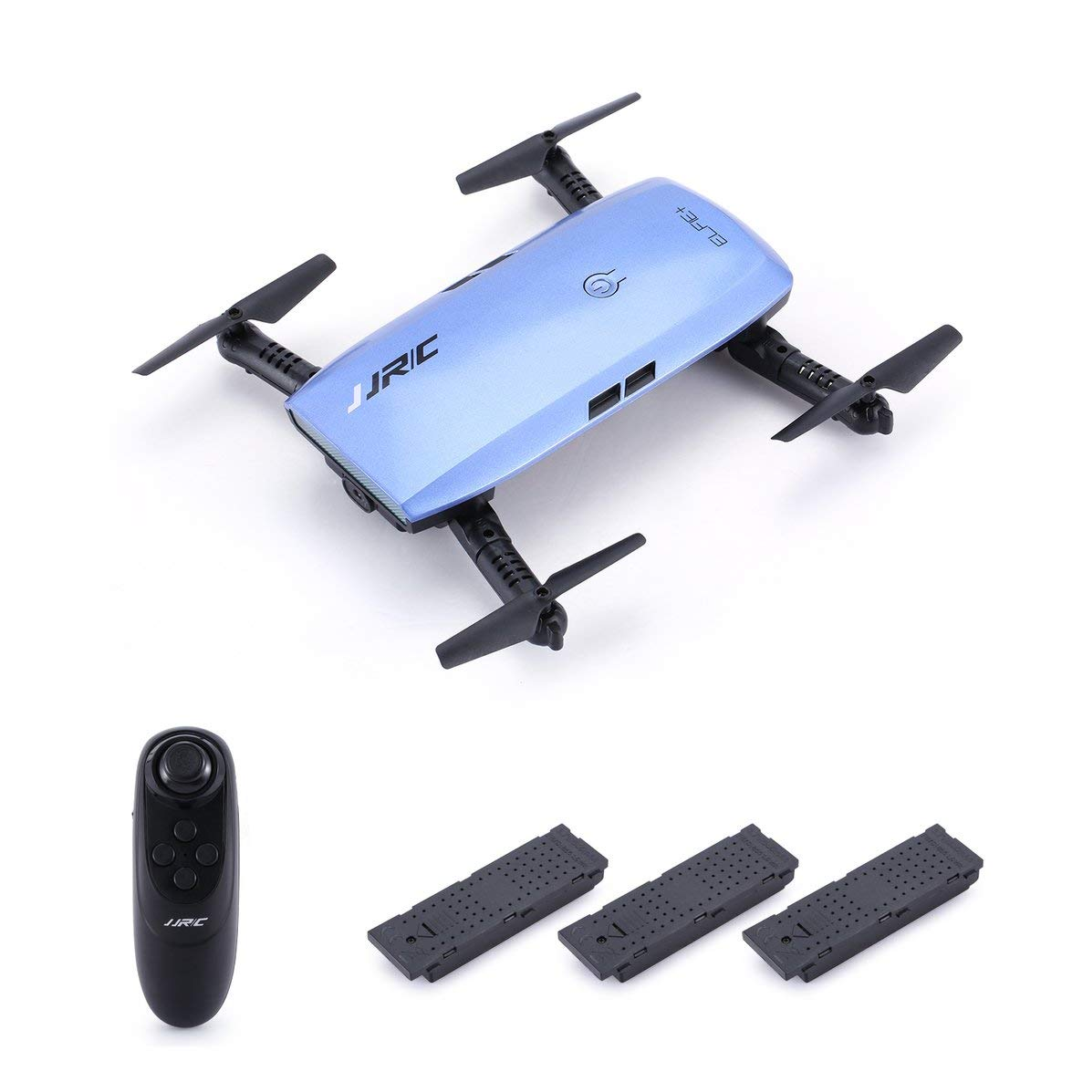 Kongqiabona JJR/C H47 Elfie WiFi FPV Drone with 720P HD Camera Altitude Hold Mode Foldable G-Sensor Mini RC Selfie Quadcopter,3 Battery
