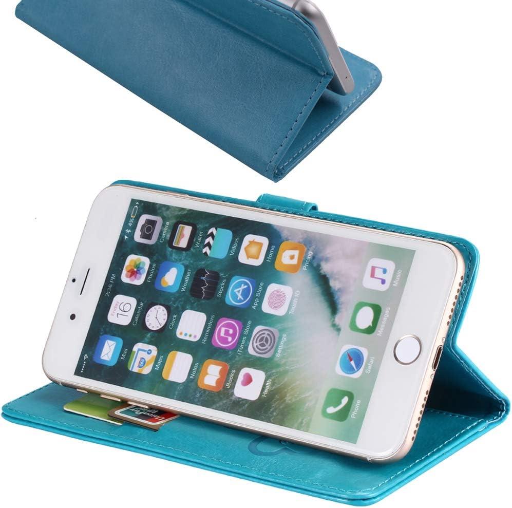 TienJueShi Azul Oscuro Retro Premium Funci/ón de Soporte Funda Caso Tel/éfono Case para Wiko View 4 Lite 6.52 Inch Carcasa Proteccion Cuero Cover Etui
