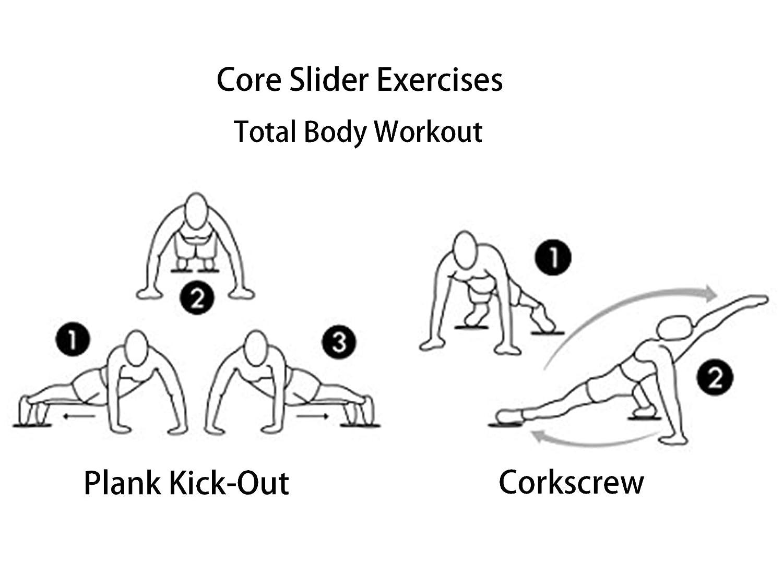 IQinQi Core Sliders Abdominal /& Full Body Exercise Equipment. Versatile Gliding Discs Black