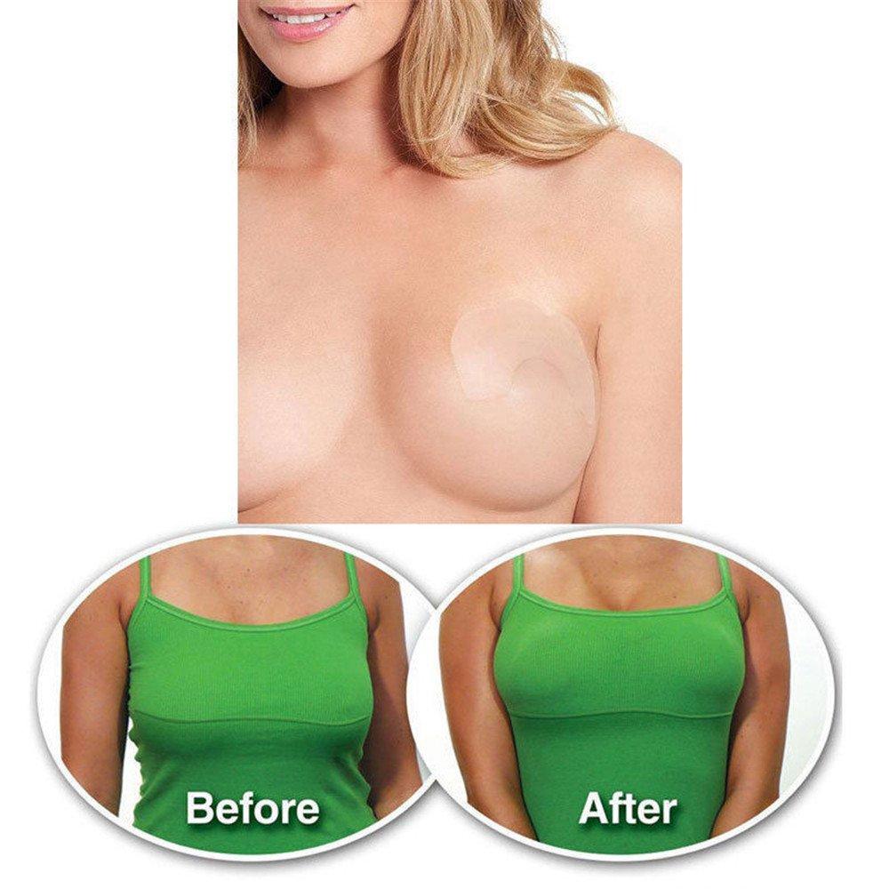 Aquiver unsichtbares Klebeband zur sofortigen Bruststraffung, hebt die Brust an und unterstützt die BH-Form, 10 Stück 10 Stü ck