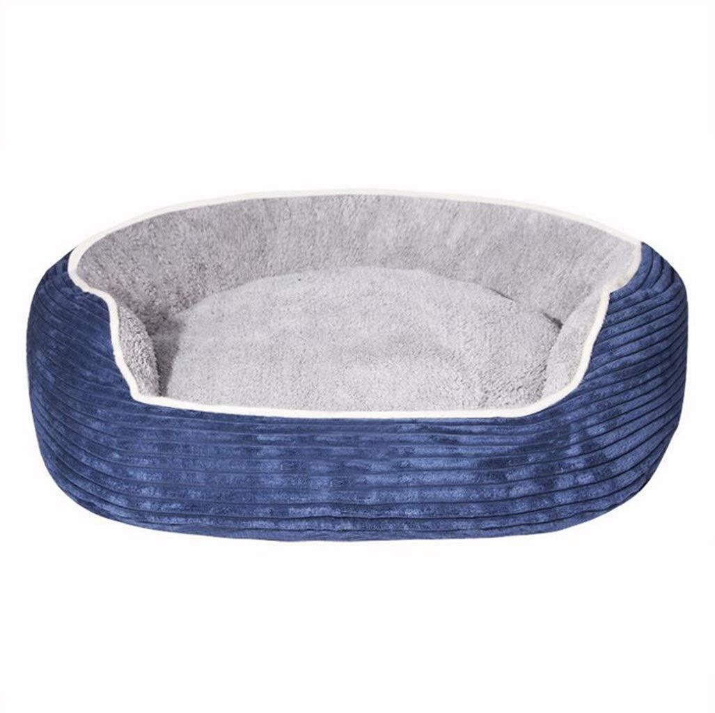 bluee L bluee L GKKXUE Cat nest, Indoor pet bed, pet sleeping bed, Elegant and comfortable cat sofa, Dog mat (color   bluee, Size   L)