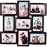 Jaipurcrafts Premium Collage Plastic Photo Frame (Photo Size - 4 X 6, 9 Photos) (Color- Wooden)