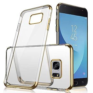 JAWSEU Funda Compatible con Galaxy S7, Carcasa Transparente ...