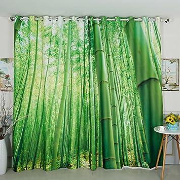 Waple High Quatily Chinesische Bambus Vorhang Stil Grunes Zimmer