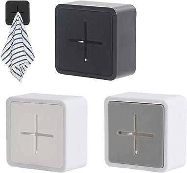 3er Handtuchhalter Selbstklebende Geschirrtuchhalter Bad Küche Wandhalter Kit
