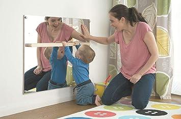 Miroir Montessori avec barre d\'appui: Amazon.fr: Bébés & Puériculture