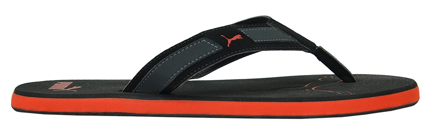 3148af26df09 Puma Men s Breeze Black and Red Synthetic Slippers- 8  Buy Online at Low  Prices in India - Amazon.in