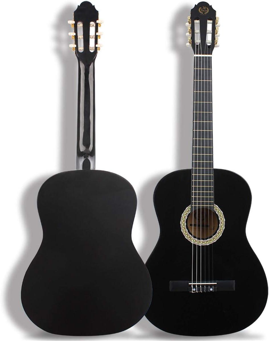 Elvira Burk Instrumento Musical 22 trastes 39 Pulgadas de Arce Clásica Guitarra acústica for el Principiante Guitarra ( Color : Negro )