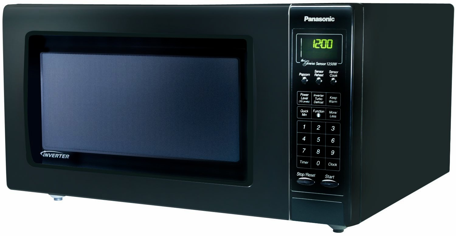 Panasonic NN-H765BF, 1460 W, 120V, 60Hz, 12.7A, Negro, 555 mm, 494 mm, 305 mm: Amazon.es: Hogar