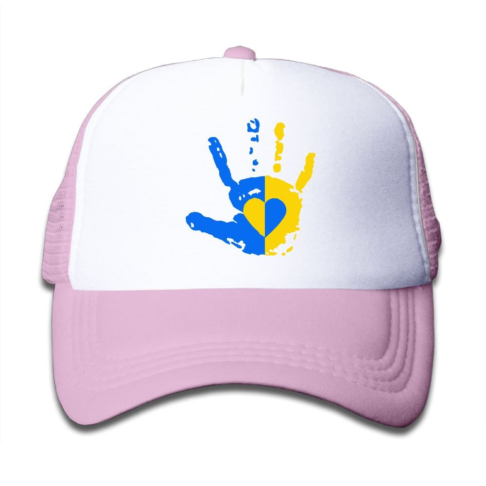 Down Syndrome Awareness Hand On Kids Trucker Hat, Youth Toddler Mesh Hats Baseball Cap