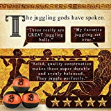KickFire Hydras Juggling Balls 6 Panel Leather Juggling Equipment for Beginners & Professionals | Fits All Sizes of Hands | FREE Online Tutorials | Set of 3