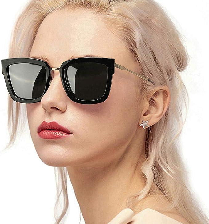 Brown UV400 Polarized Cat-eye Sunglasses Eye-wear Goggle Blinkers for Lady Women