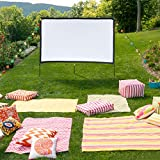 80inch Portable Projector Screen 4K 3D Outdoor Foldable Home Movie Screen with Stand