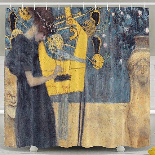 Outlet Mildew Resistant Shower Curtain Bathroom Decor Gustav Klimt Music Water Repellent Fabric Bath 60