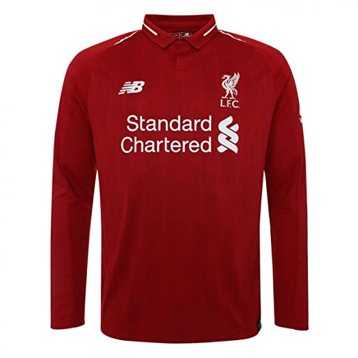 f2b5cab4e41a6 Amazon.com: New Balance 2018-2019 Liverpool Home Long Sleeve Shirt ...