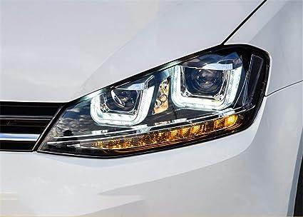Faros delanteros LED para Volkswagen Golf 7 Bi-Xenon HID proyector ...