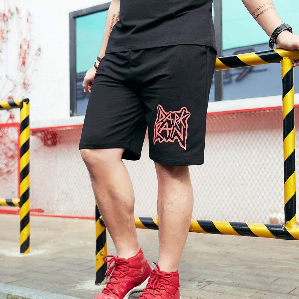 Transser Mens Casual Loose Fit Shorts Printed Fashion Pant Stretchy Breathable Comfort Pants