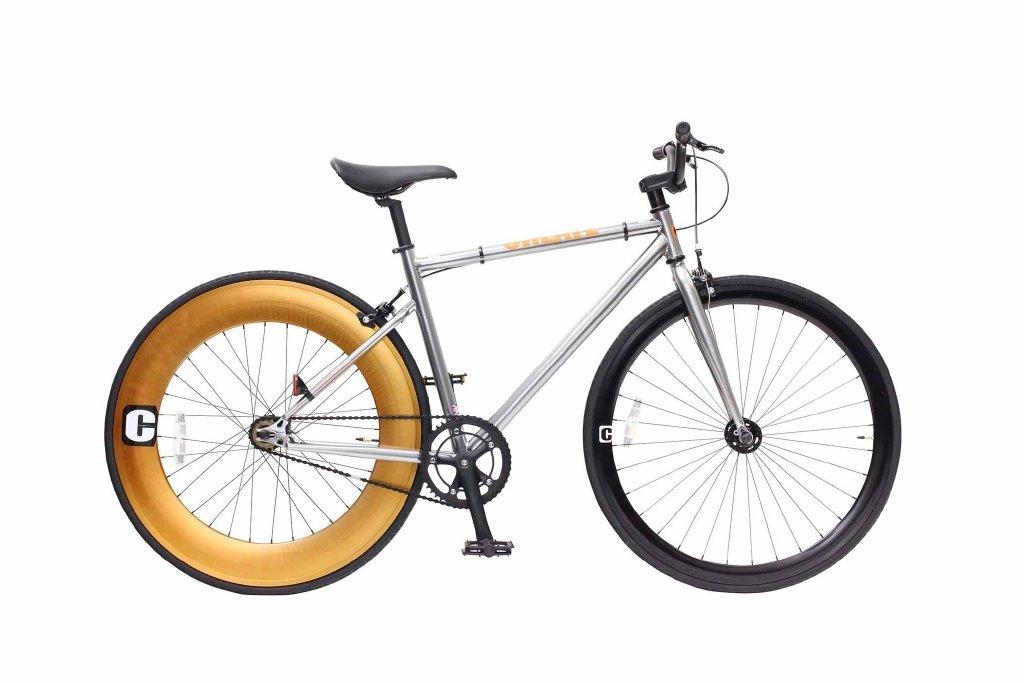 CREATE 700C シングルバイク C100-(460)-SV(シルバー) B07B1TF4GJ