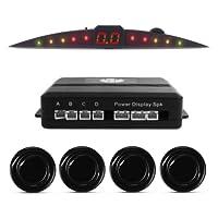 Sensor De Estacionamento TechOne Preto Brilhante 4 Pontos Display Led