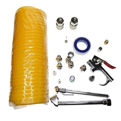 PETSOLA Kit De Accesorios Para Compresor De Aire Con Manguera De Nylon De Bobina/Soplador