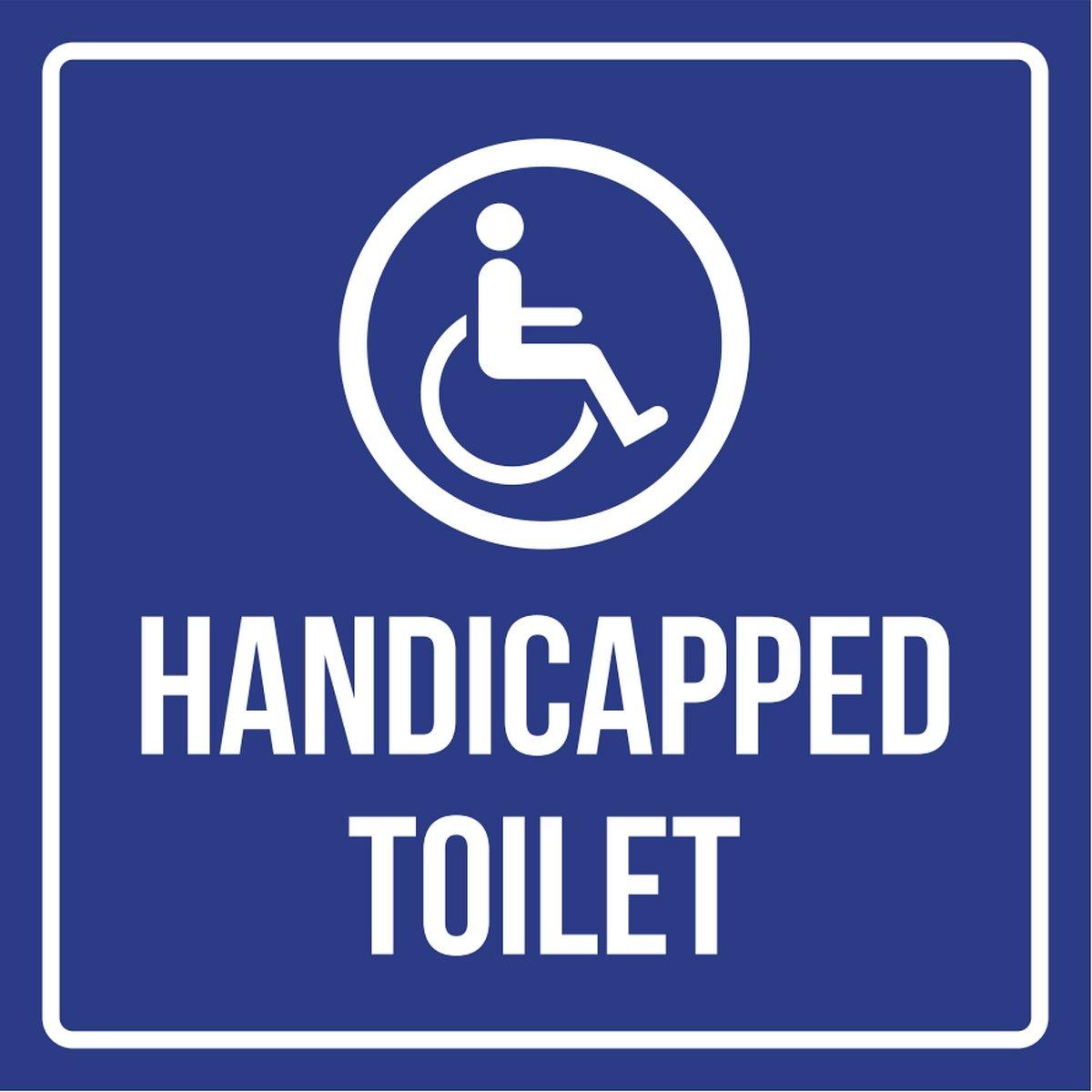 障害者トイレ障害者ビジネスCommercial安全警告Squareサイン – 9 x 9 9x9 9x9-230-Plastic B0785S3KC9