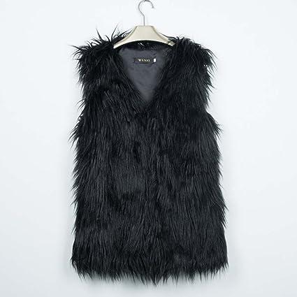 Chaleco Wildeal de pelo sintético para mujer para invierno. Abrigo que le  mantiene caliente. 3c33f38870f3
