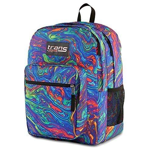 Jansport Supermax Multi Acid Rainbow Swirl Backpack with Lap