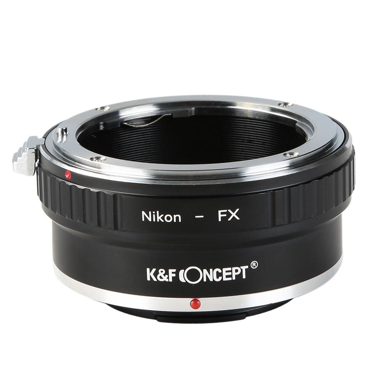 K/&F CONCEPT Bague adaptatrice Adaptateur objectif pour monter objectif Olympus OM /à Cam/éra Fujifilm X-Pro1 Mirrorless en M/étal