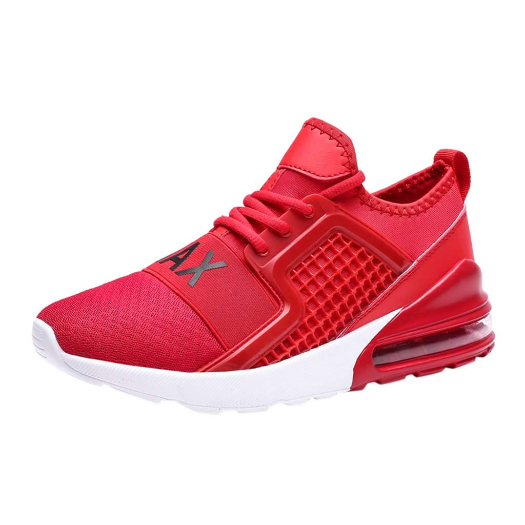 Men's Summer Sneakers Casual Mesh Breathable Running Shoes Athletic Lightweight Air Cushion Jogging Workout Gym Shoe (Red, US:11) by Cealu (Image #1)