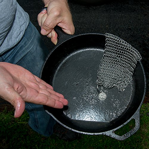 ScrubberPro Cast Chainmail Scrubber The Solution for Seasoned Cast Cookware XLarge, Inch, from